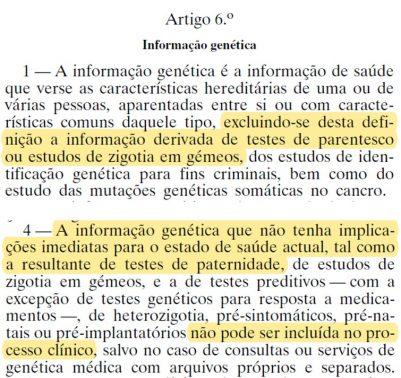 legislação regulamentar decreto de lei de 2005, direito à confidencialidade