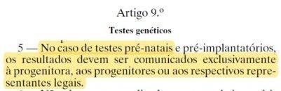 decreto de lei 12 de 2005 - legislação comunicação dos resultados aos intervenientes no exame de adn